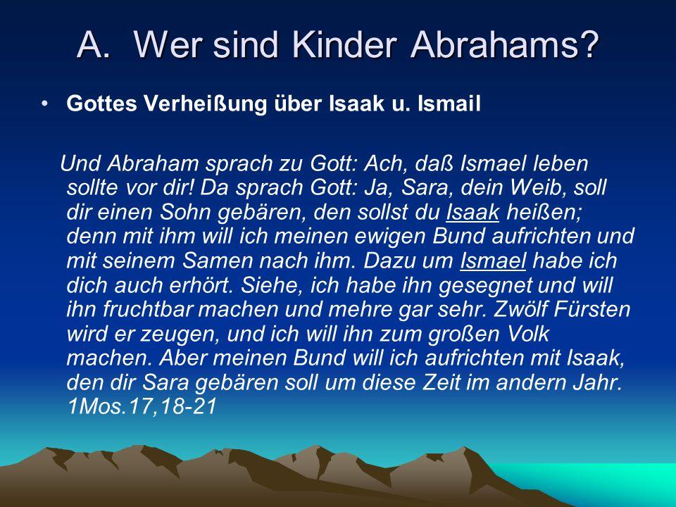 A1.Gottes Verheißung an Abraham über Isaak u.