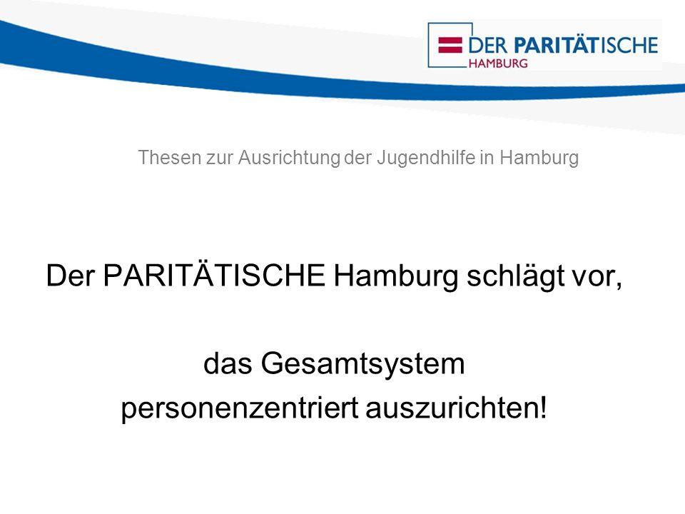 Thesen zur Ausrichtung der Jugendhilfe in Hamburg Die entscheidende Leitfrage ist: Was braucht das konkrete Kind und der konkrete Jugendliche, um nicht ausgeschlossen zu werden.