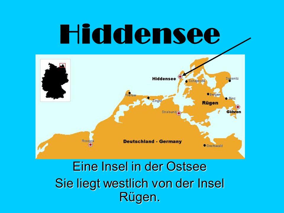 Hiddensee Eine Insel in der Ostsee Sie liegt westlich von der Insel Rügen.