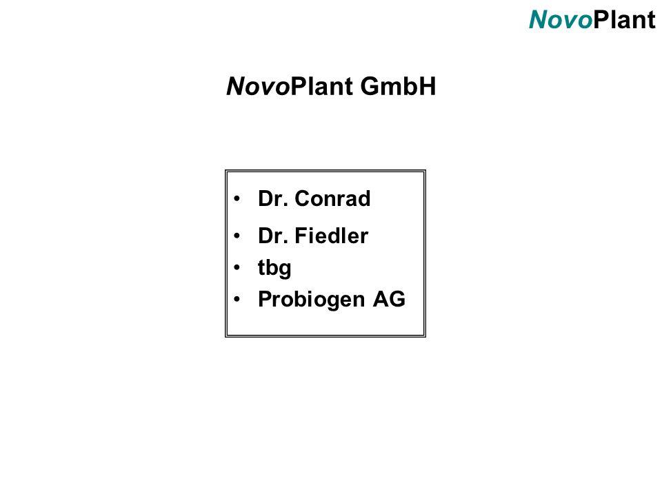 NovoPlant NovoPlant GmbH Dr. Conrad Dr. Fiedler tbg Probiogen AG