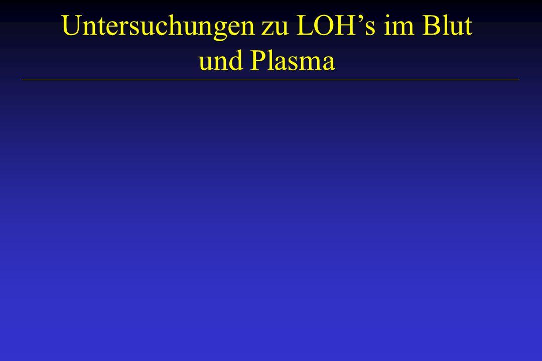 Untersuchungen zu LOHs im Blut und Plasma