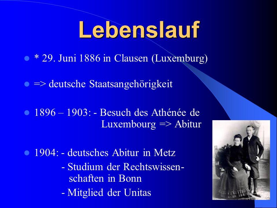 Fortsetzung des Studiums in München, Berlin und Straßburg 1908: - 1.