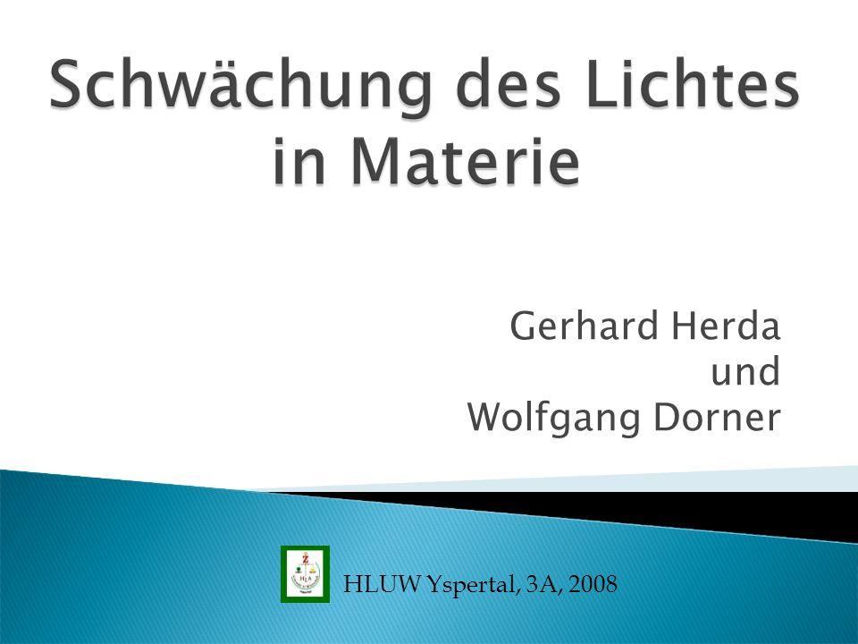 Gerhard Herda und Wolfgang Dorner HLUW Yspertal, 3A, 2008