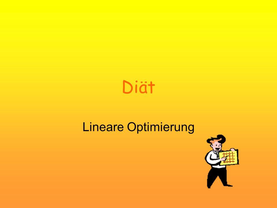 Diät Lineare Optimierung
