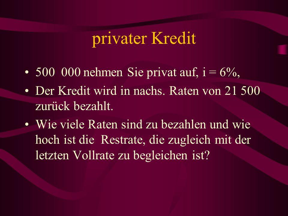 Wohnbauförderung Sie erhalten eine Summe von 300 000 Die ersten 20 Jahre (von insgesamt 50) bezahlen Sie eine Semesterrate von 3000 Euro nachsch.