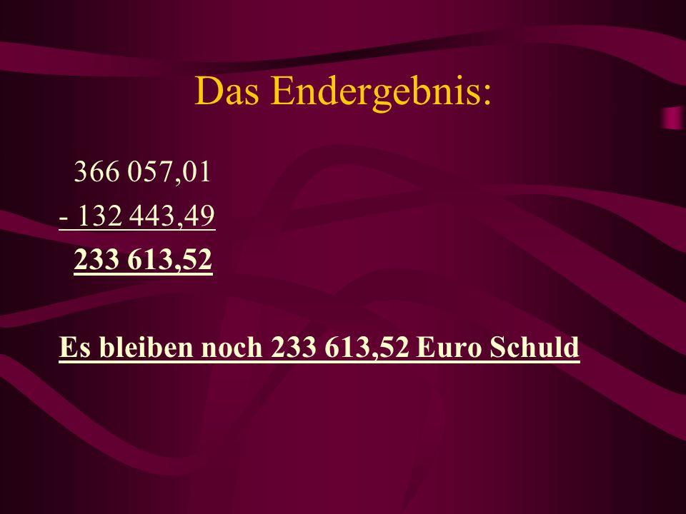 Die Berechnung: E=R. (1-r n )/ (1-r), r = 1,01 A E= 3000.