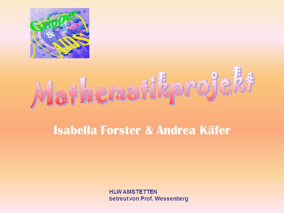 Isabella Forster & Andrea Käfer HLW AMSTETTEN betreut von Prof. Wessenberg