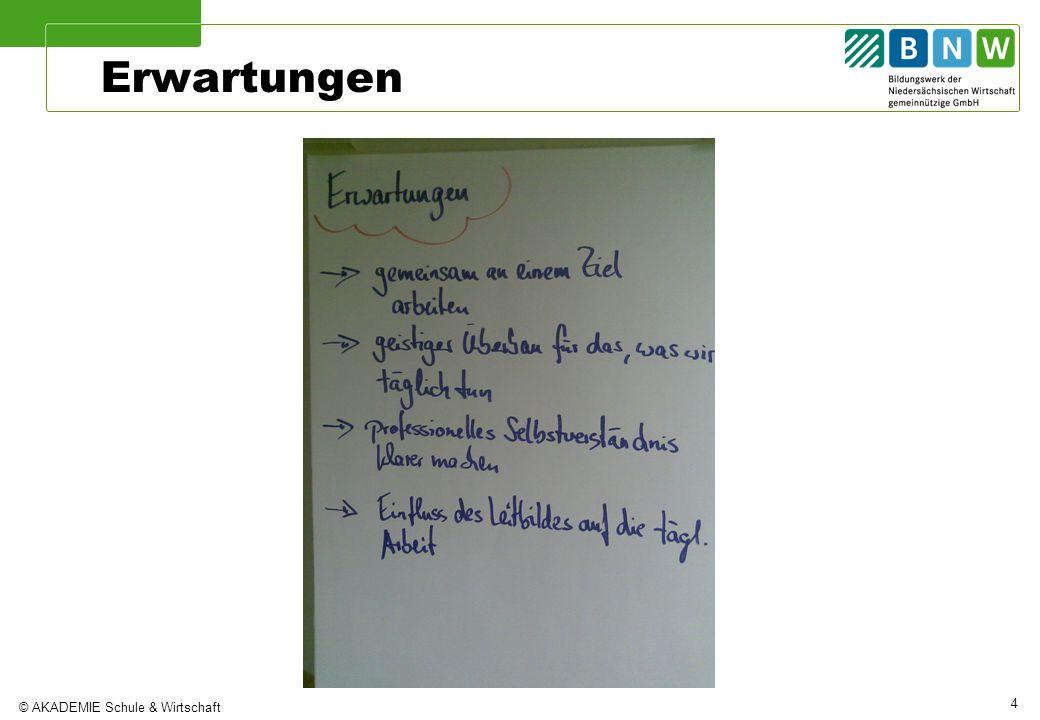 © AKADEMIE Schule & Wirtschaft 4 Erwartungen