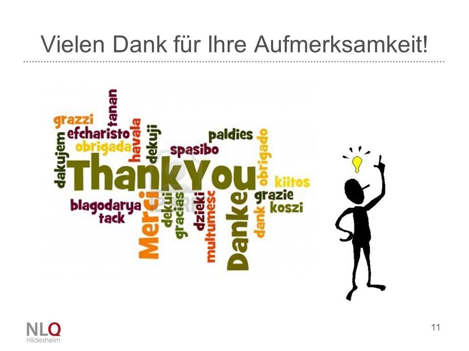 11 Vielen Dank für Ihre Aufmerksamkeit!