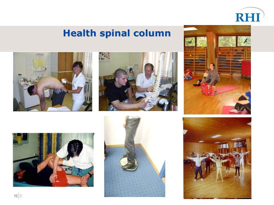 916 Health spinal column