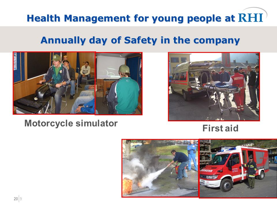 920 Health Management for young people at Annually day of Safety in the company Motorcycle simulator First aid