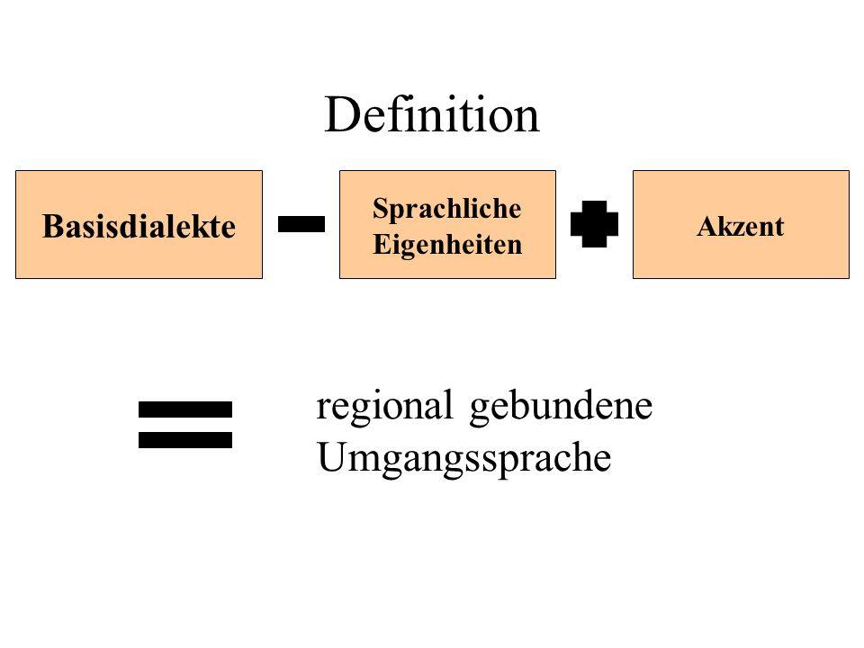 Basisdialekte Sprachliche Eigenheiten Akzent regional gebundene Umgangssprache Definition