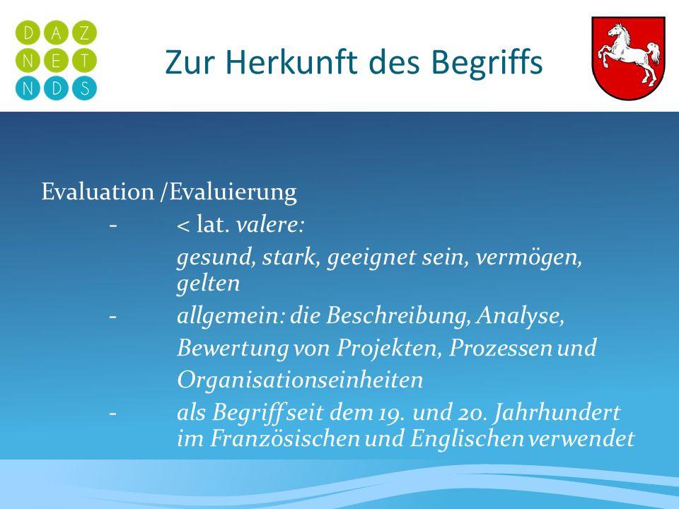 Formen der Evaluation Es lassen sich drei Formen der Evaluation unterscheiden: 1.