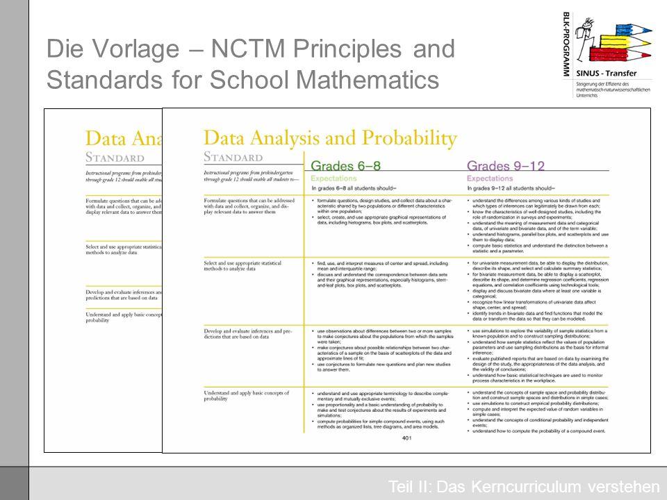 Die Vorlage – NCTM Principles and Standards for School Mathematics Teil II: Das Kerncurriculum verstehen