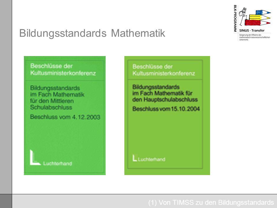 Bildungsstandards Mathematik (1) Von TIMSS zu den Bildungsstandards