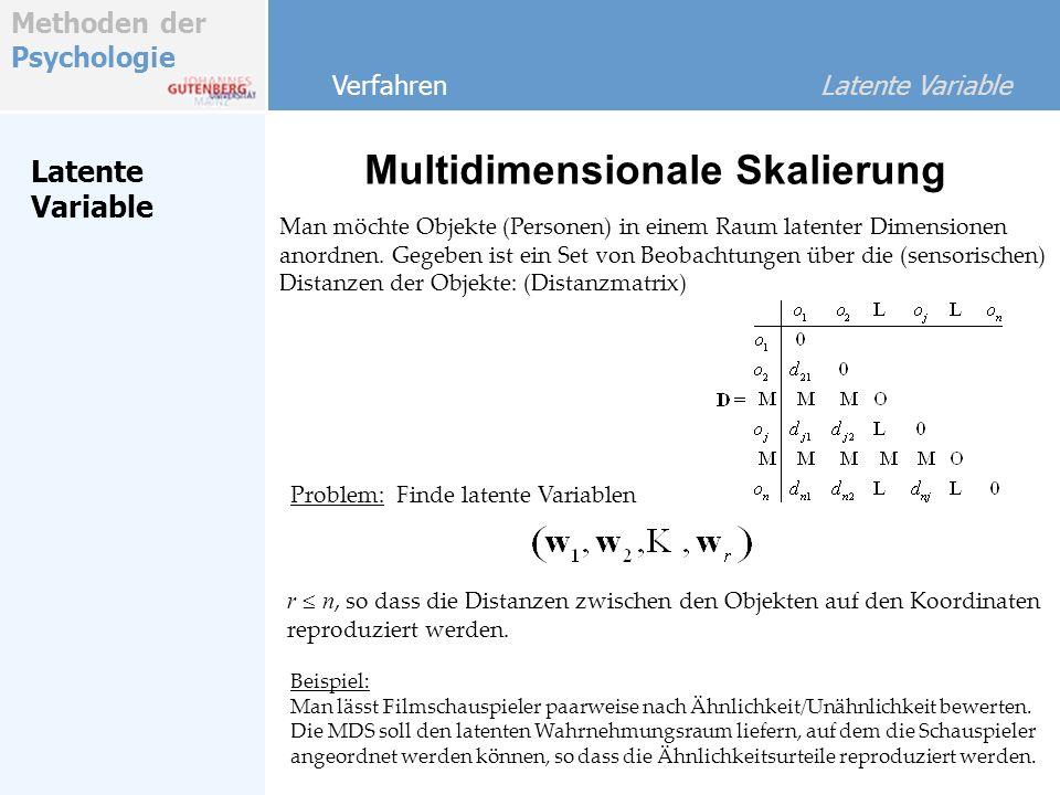Methoden der Psychologie Latente Variable Einführung Was sind multivariate Analysemethoden.
