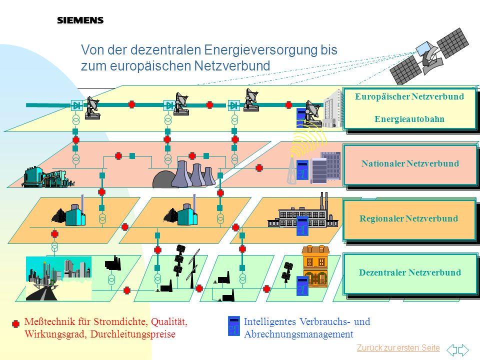 Von der dezentralen Energieversorgung bis zum europäischen Netzverbund Meßtechnik für Stromdichte, Qualität, Wirkungsgrad, Durchleitungspreise Intelli