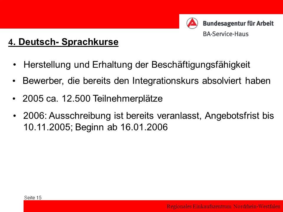 Regionales Einkaufszentrum Nordrhein-Westfalen Seite 15 4.
