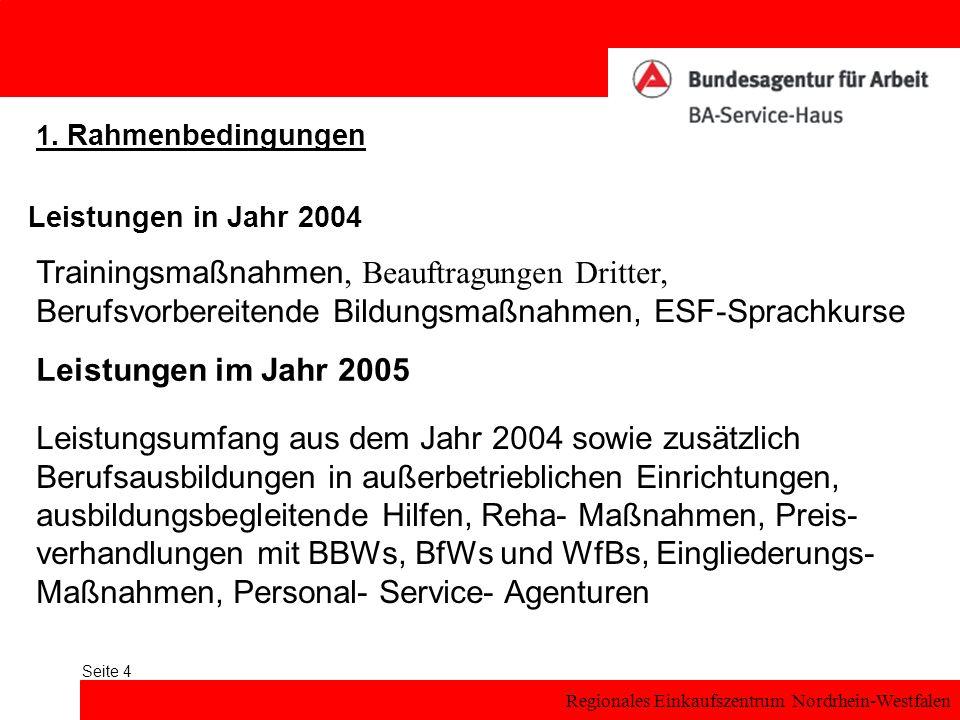 Regionales Einkaufszentrum Nordrhein-Westfalen Seite 4 1.