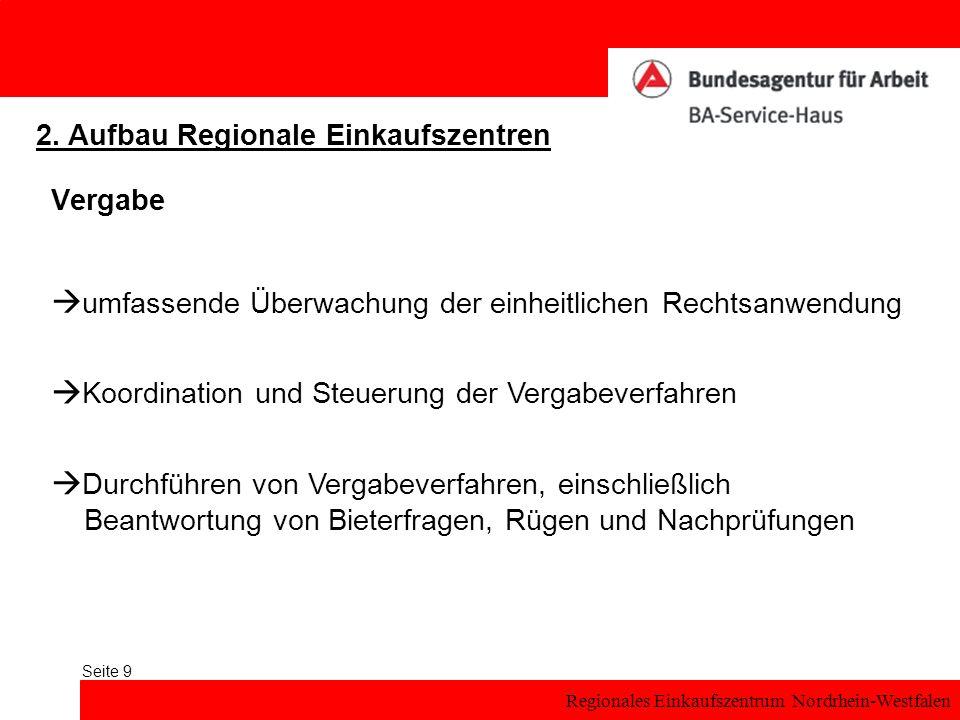 Regionales Einkaufszentrum Nordrhein-Westfalen Seite 9 Vergabe 2.