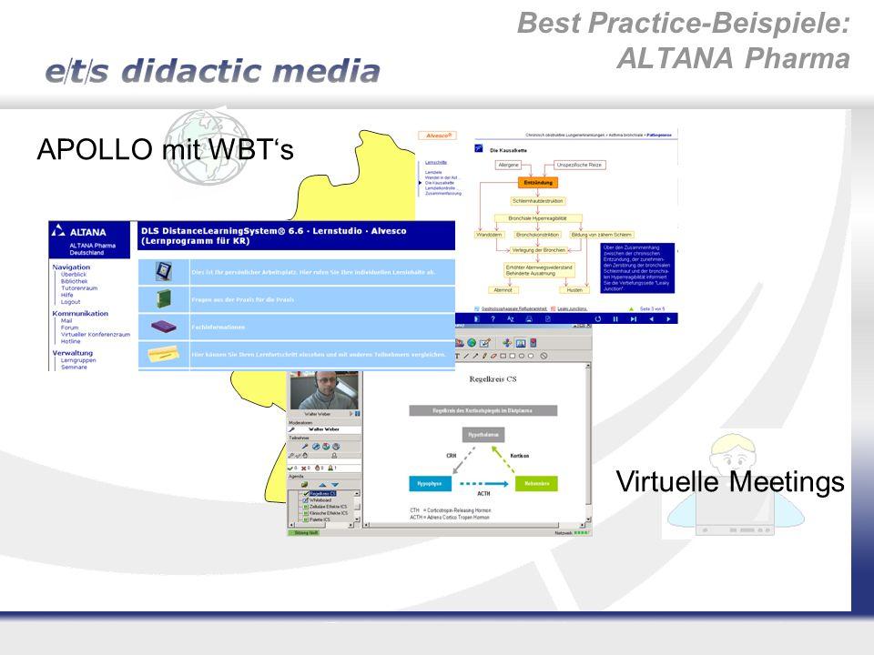 Virtuelle Meetings APOLLO mit WBTs Best Practice-Beispiele: ALTANA Pharma