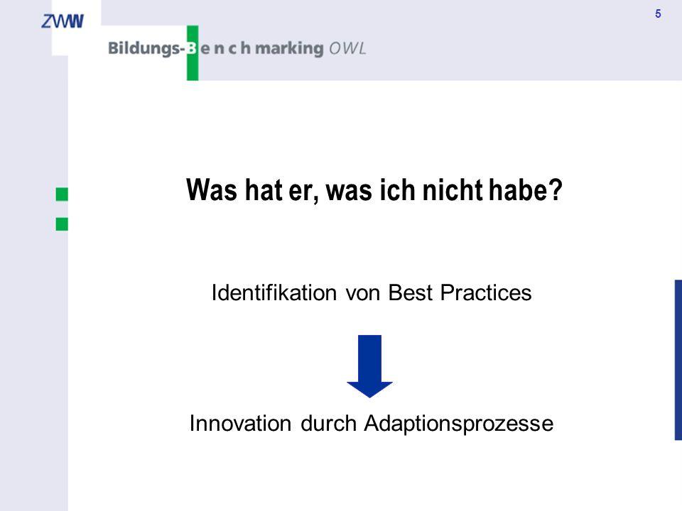 5 Was hat er, was ich nicht habe? Identifikation von Best Practices Innovation durch Adaptionsprozesse