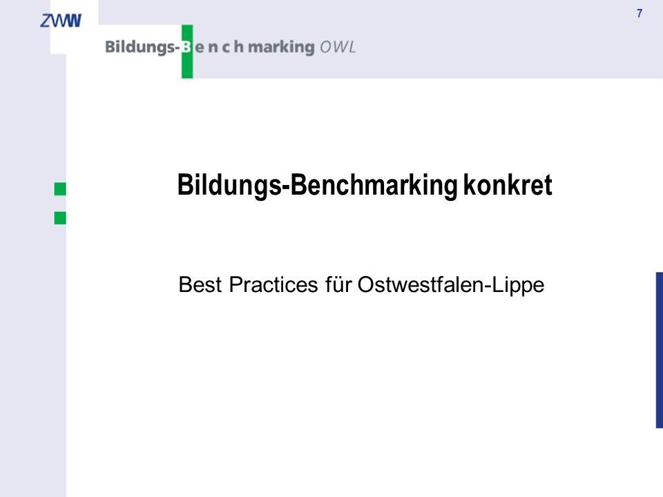 7 Bildungs-Benchmarking konkret Best Practices für Ostwestfalen-Lippe