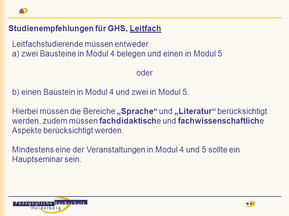 SemesterModuleModule FVLeistungsnachweis 1.Modul 1 (Bausteine 1-3) Zentralklausur (= AZP) 2.Modul 2 (Bausteine 1-3) mündliche Prüfung (= ATP/T.1) 3./4.Modul 3 (Bausteine 1-3) + Übung Sprecherziehung 3 Bausteine des Moduls 1 im FV Erwerb eines Seminar- scheins in Baustein 1 oder 2 (= ATP/T.2) 5.Modul 4 (2 Bausteine ) 1 Baustein des Moduls 2 im FV 6./7.Modul 4 (1 Baustein) 2 Bausteine des Moduls 2 im FV (Projektprüfung im Modul 2 d.