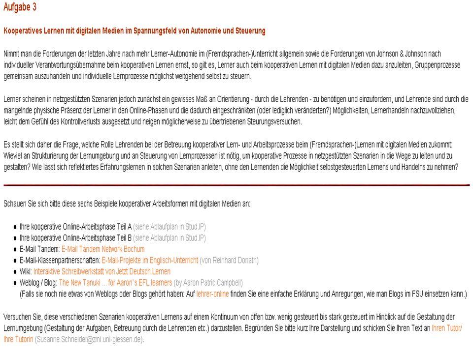 Susanne Schneider VIII. Mediendidaktisches Kolloquium, Heidelberg 04.-06.10.06 Die Blended Learning-Veranstaltung