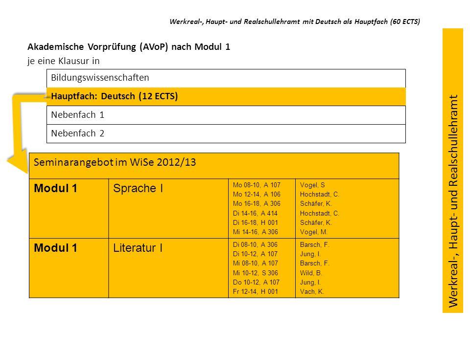 Ausblick: Studium im 3.-5.Semester (Modul 2) Veranstaltung zu Schreib-/Leseforschung/Schreib-/Lesedidaktik (3 ECTS) Veranstaltung zu Kommunikative Prozesse u.