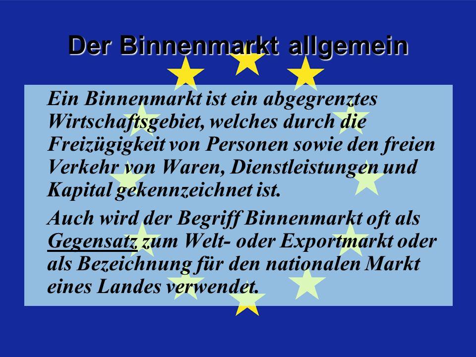 Ziele Die EU-Bürger sollen in der gesamten EU leben, arbeiten, studieren und ihren Geschäften nachgehen können.