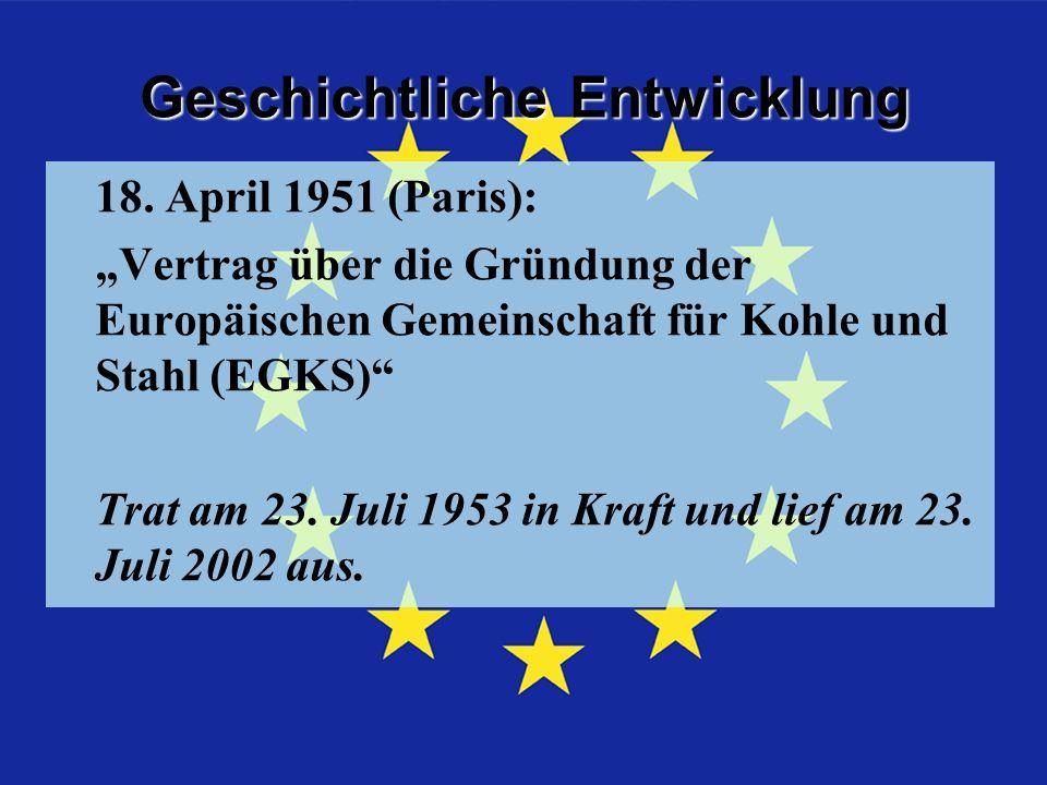 Geschichtliche Entwicklung Geschichtliche Entwicklung Kohle und Stahl 18.