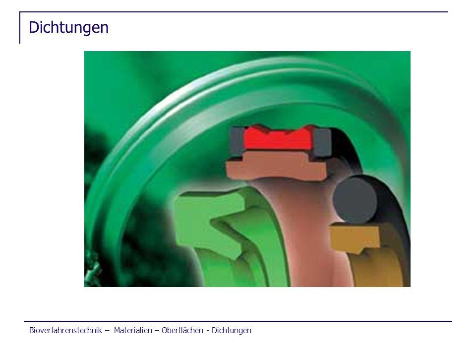 Bioverfahrenstechnik – Materialien – Oberflächen - Dichtungen Dichtungen