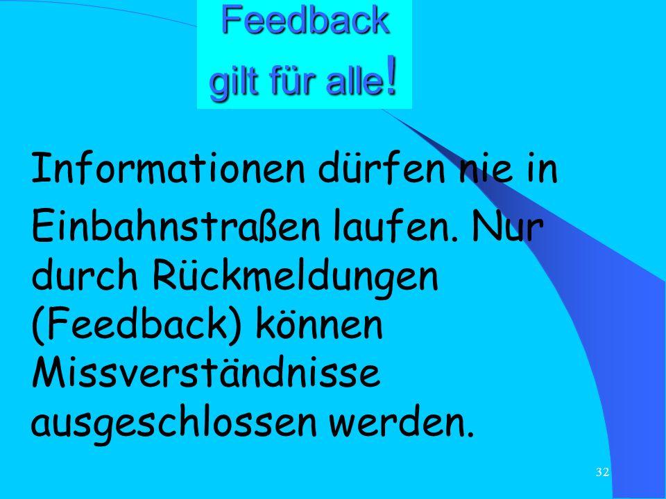 31 Kommunikation bedeutet Mitarbeiter in Arbeitsprozessen unterstützen – Feedback geben können Feedback liefert Mitarbeitern Information Motivation Le