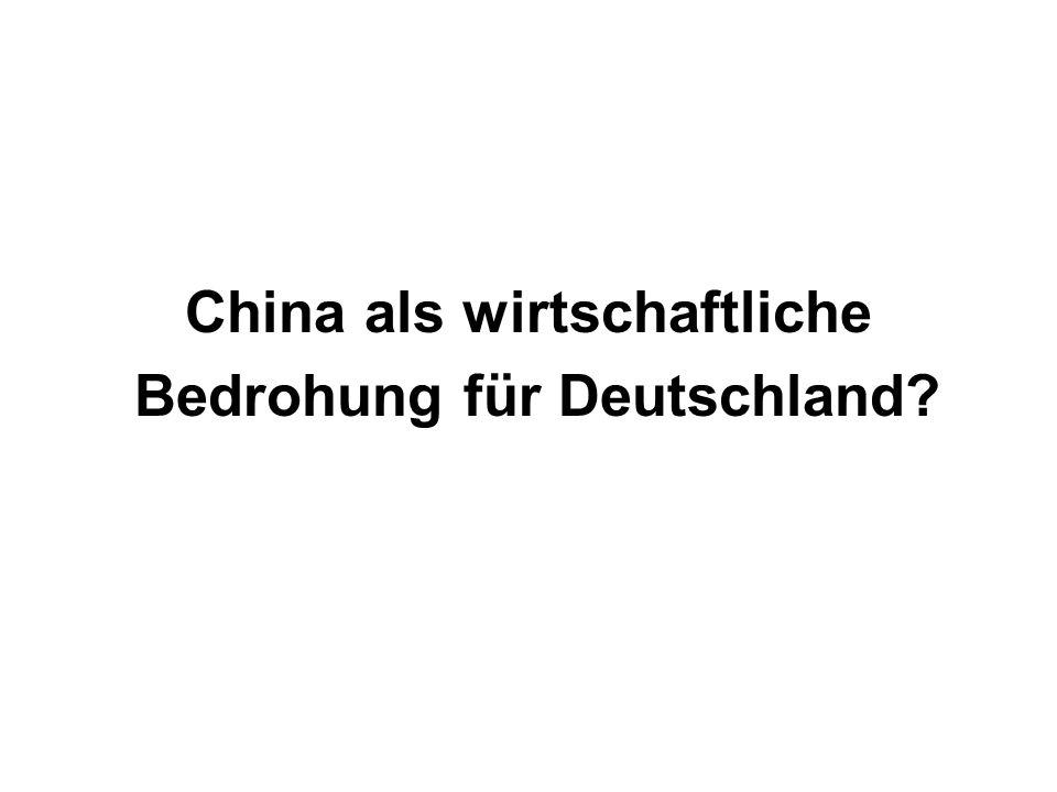 China als wirtschaftliche Bedrohung für Deutschland?