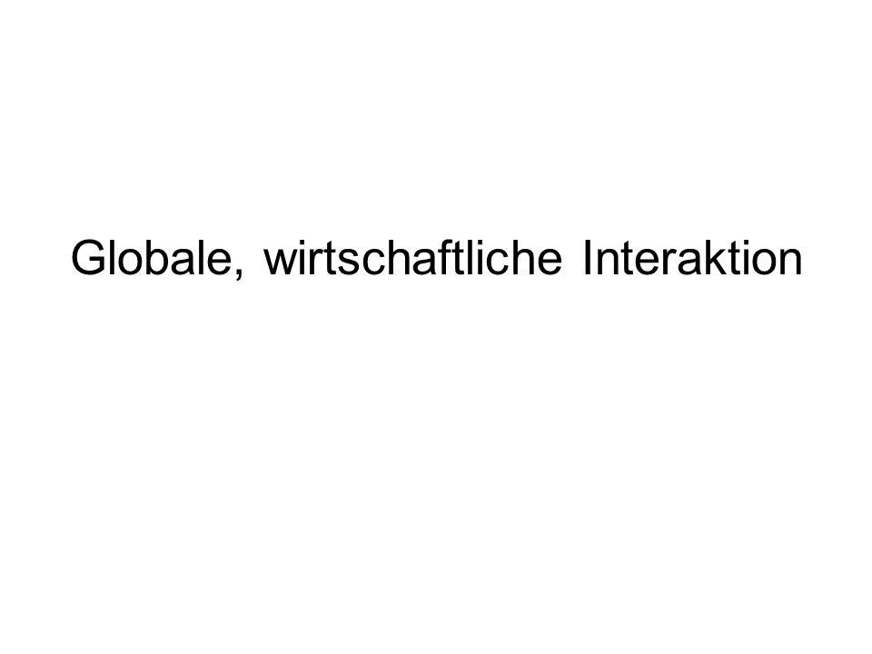 Globale, wirtschaftliche Interaktion