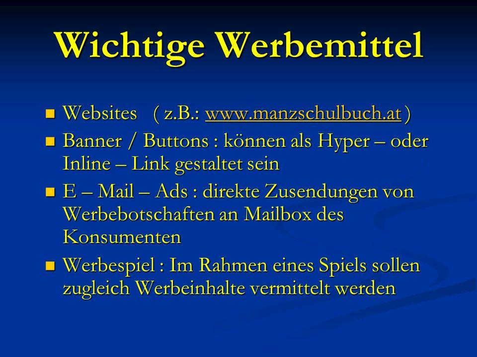 WERBUNG ImInternet
