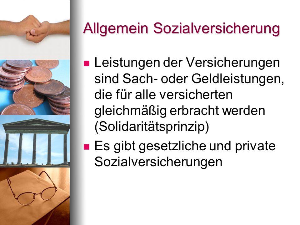 Rentenversicherung (RV) Eine Versicherung, bei der im Versicherungsfall eine monatliche Rente ausbezahlt wird.