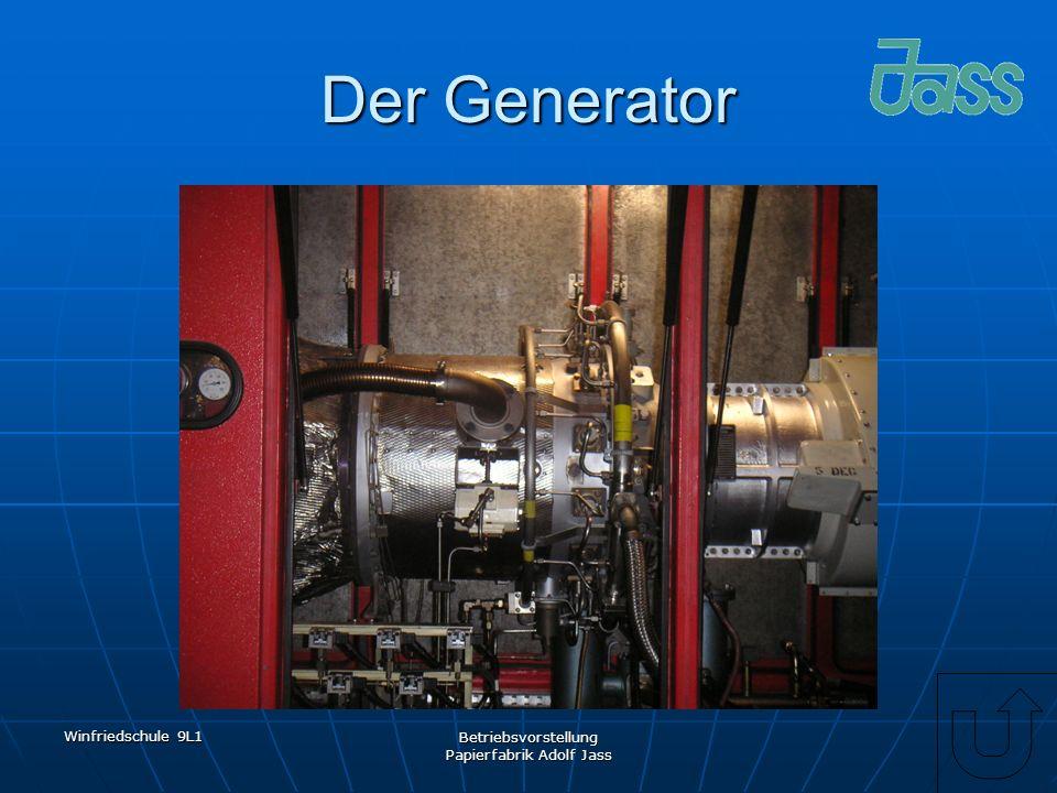 Winfriedschule 9L1 Betriebsvorstellung Papierfabrik Adolf Jass Der Generator