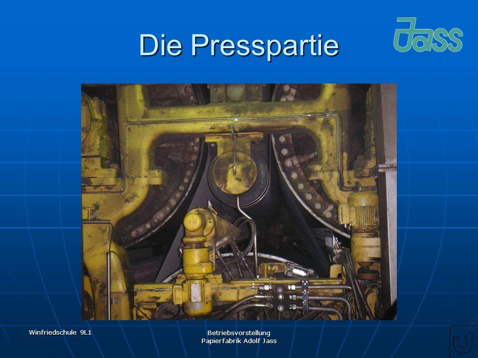 Winfriedschule 9L1 Betriebsvorstellung Papierfabrik Adolf Jass Die Presspartie