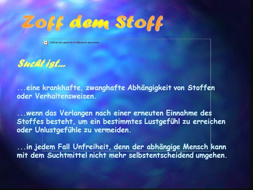 Alkohol Alkohol gilt als Genussmittel, ist tatsächlich aber die Droge Nummer 1 in Deutschland !!.