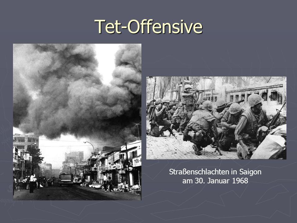 Tet-Offensive Straßenschlachten in Saigon am 30. Januar 1968