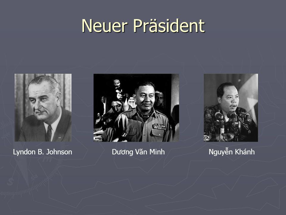 Neuer Präsident Nach gescheiterten Friedensverhandlungen wird Dương Văn Minh zum zweiten mal Präsident Südvietnams.
