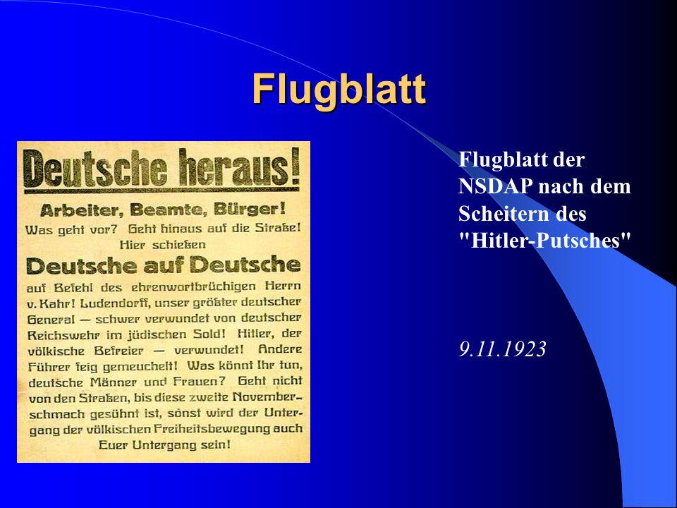 Der Marsch auf die Feldherrenallee vierzehn Demonstranten und drei Polizisten sterben, viele Verletze Ludendorff lässt sich verhaften Hitler flieht wi