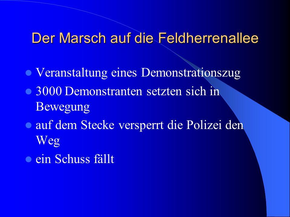 Der Putsch Anfang November stürmte die NSDAP die Versammlung Erklärte die Regierung für abgesetzt Drängte die Versammlungsleitung zu Zustimmung Ergrif
