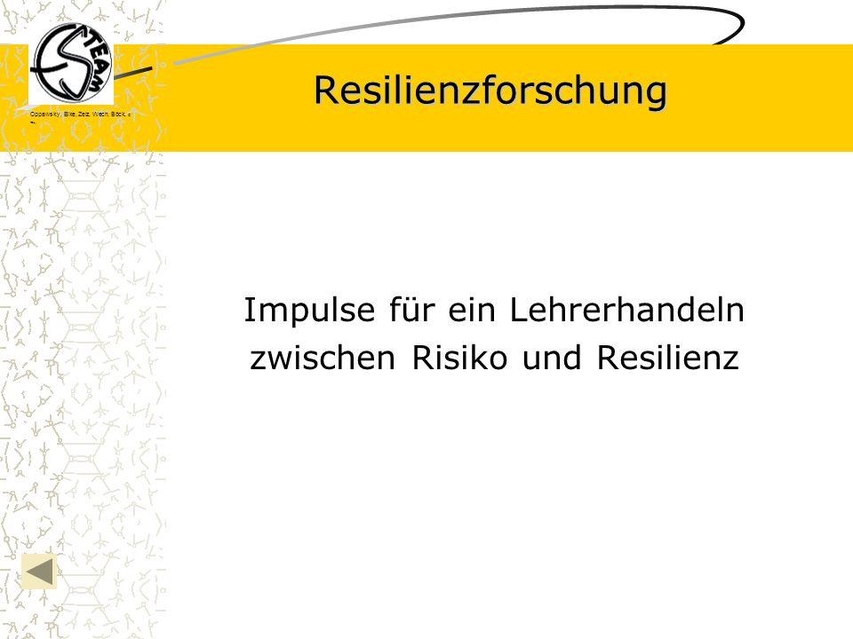 Oppawsky, Eike, Zelz, Wech, Böck, G rau, Resilienzforschung Impulse für ein Lehrerhandeln zwischen Risiko und Resilienz