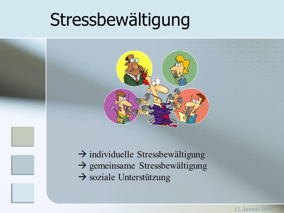 Stressbewältigung individuelle Stressbewältigung gemeinsame Stressbewältigung soziale Unterstützung