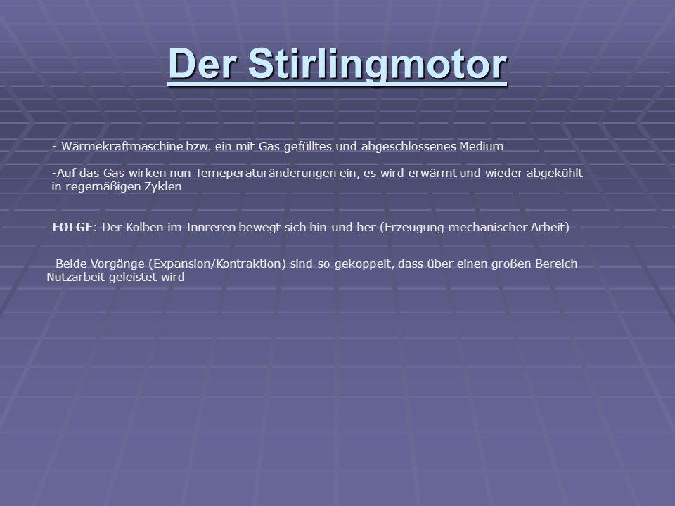 Der Stirlingmotor - Wärmekraftmaschine bzw.