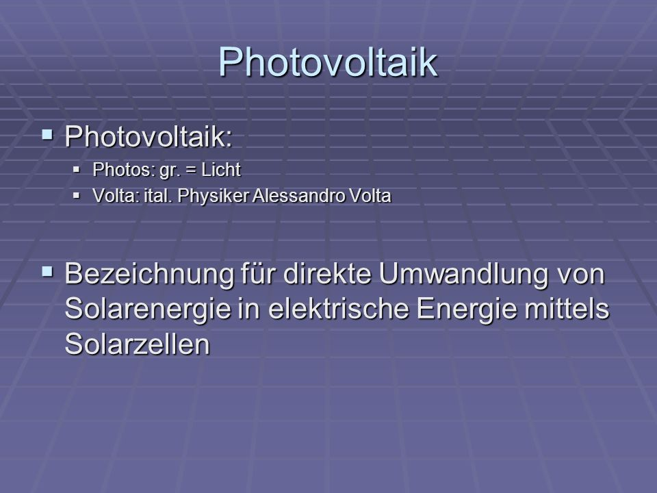 Photovoltaik Photovoltaik: Photovoltaik: Photos: gr.