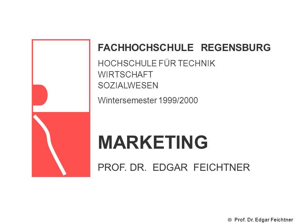 FACHHOCHSCHULE REGENSBURG HOCHSCHULE FÜR TECHNIK WIRTSCHAFT SOZIALWESEN Wintersemester 1999/2000 Prof.